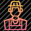 avatar, boy, farmer, human, male, man, profile icon