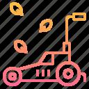 garden, gardening, lawn, mower, tool icon