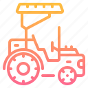 tractor, transportation, truck, vehicle icon