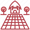 buildings, farm, gardening, home icon
