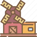 agriculture, farm, farming, flour, mill icon
