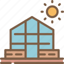 agriculture, farm, farming, green, house icon
