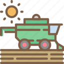 agriculture, farm, farming, harvester icon