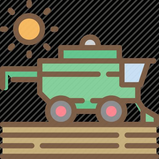 agriculture, farm, farming, harvester icon