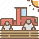 agriculture, farm, farming, modern, tractor icon