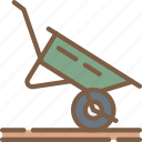 agriculture, farm, farming, wheelbarrow icon