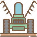 agriculture, farm, farming, windrower icon