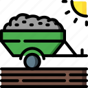 agriculture, farm, farming, trailer icon