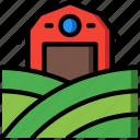 agriculture, farm, farming, landscape icon