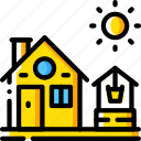 agriculture, farm, farming, house, well icon