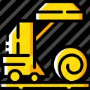 agriculture, baler, farm, farming, hay icon