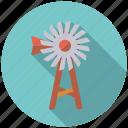 agriculture, farm, pump, wind turbine