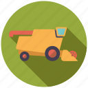 harvester, farm, machine, vehicle, farming, agriculture