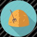 agriculture, farm, fork, hay, haystack icon