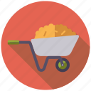 agriculture, dung, farm, farming, hay, wheelbarrow, wquipment icon