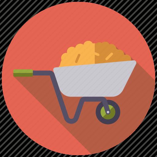 agriculture, dung, farm, farming, hay, wheelbarrow, wquipment icon