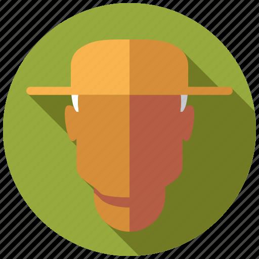agriculture, farm, farmer, man, straw hat icon