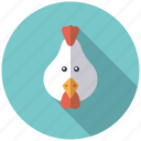 agriculture, animal, bird, farm, hen, rooster icon