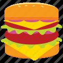 burger, cheeseburger, fast food, food, hamburger, meal icon