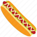 food, fast food, hamburger, hotdog, sossis, mayonaise icon