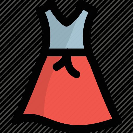 frock, girl apparel, sleeveless dress, summer wear, sundress icon