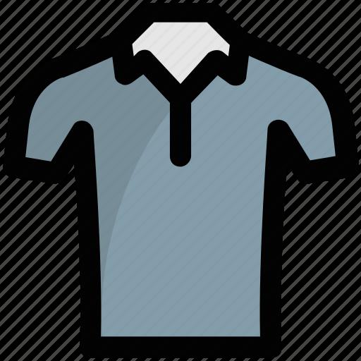 collar shirt, half sleeves shirt, shirt, summer clothes, tee shirt icon