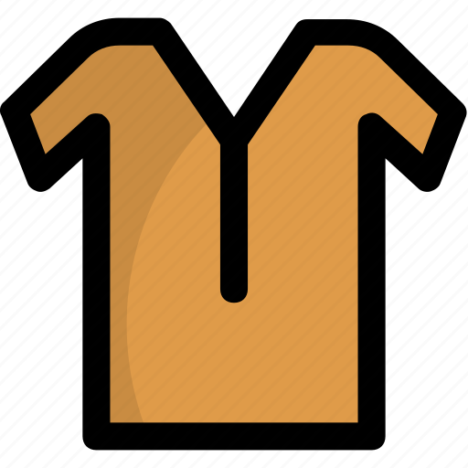 clothing, garment, shirt, t-shirt, v-neck tee icon
