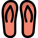 beach slippers, flip flop, footwear, home slippers, slippers icon