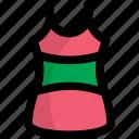 ladies garments, strappy tank, women apparel, women tank top, womens singlet icon