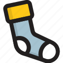 footwear, hosiery, kids socks, stocking, winter wear icon