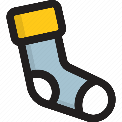 footwear, hosiery, kids socks, stocking, winter wear icon