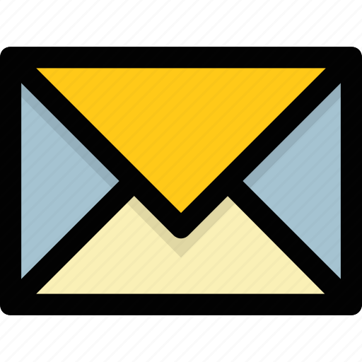 correspondence, envelope, letter, mail, postal services icon