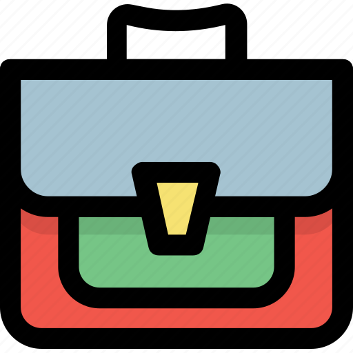 briefcase, business case, office bag, office case, portfolio bag icon