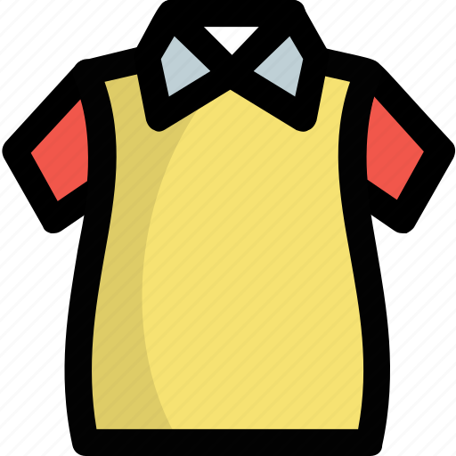 Collar shirt, half sleeves shirt, shirt, summer clothes, tee shirt icon - Download on Iconfinder