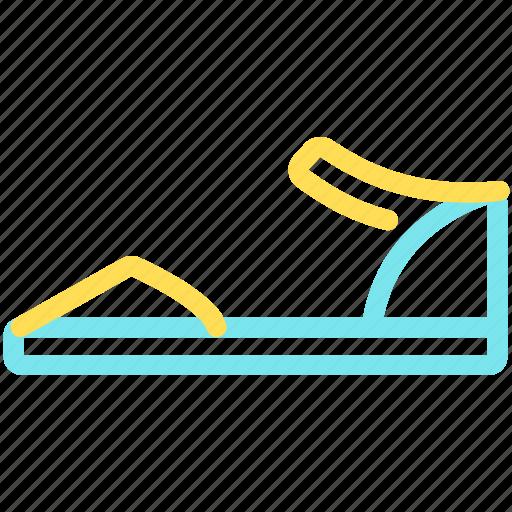 beach, footwear, sandals, shoes, summer icon