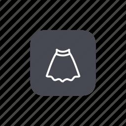 fashion, skirt icon