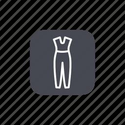 fashion, jumpsuit icon