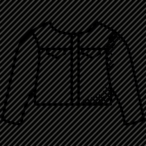 bolero jacket, bolero shrug, female fashion, jacket, short t-shirt icon