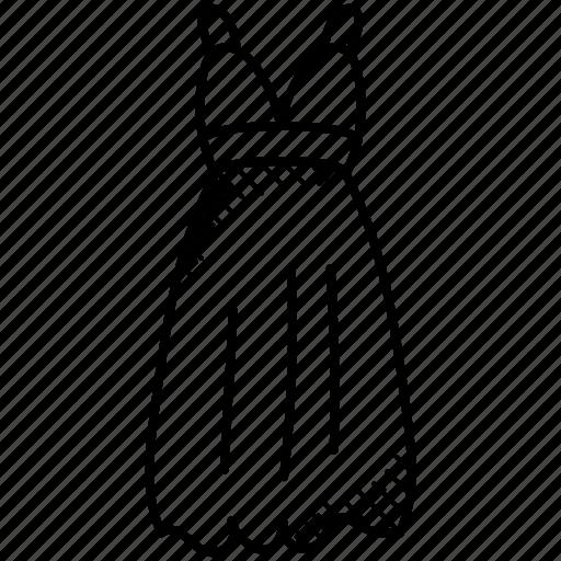 babydoll dress, modern dress, party wear, strap frock, women clothing icon