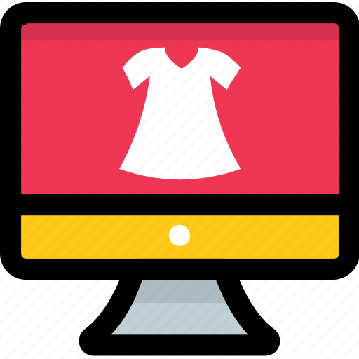 ecommerce, fashion website, online fashion, online shopping, store icon