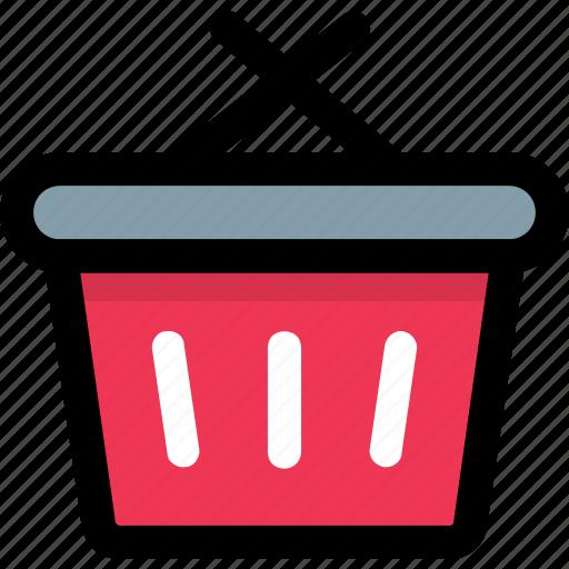 basket, grocery basket, hamper, hand basket, shopping basket icon