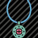 jewellery, necklace, neckwear, pendant icon