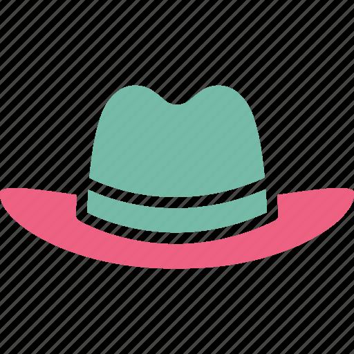 cowboy hat, fedora hat, floppy hat, hat icon