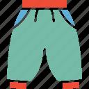 apparel, knicker, short, winter pajama icon