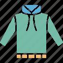 hoodie, hoodie clothing, hoodie jacket, mens hoodie icon