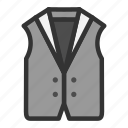 clothes, fashion, vest, waistcoat icon