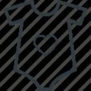 clothes, garment, heart shirt, shirt, t shirt, tee icon