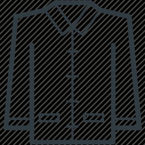 business dress, collar shirt, formal dress, men clothing, shirt icon