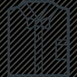 dress shirt, folded shirt, garments, shirt, shirt packaging icon