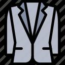 apparel, clothing, fashion, style, tuxedo icon